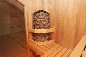 Sarok szaunakályha - finn szauna építés